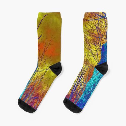 Elektrischer Wald Socken