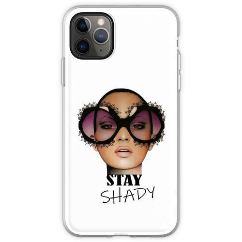 Dame mit übergroßer Sonnenbrille Flexible Hülle für iPhone 11 Pro Max
