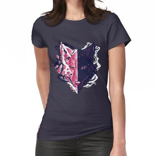 Kristallisierter Wolf geräucherter Kopf Frauen T-Shirt