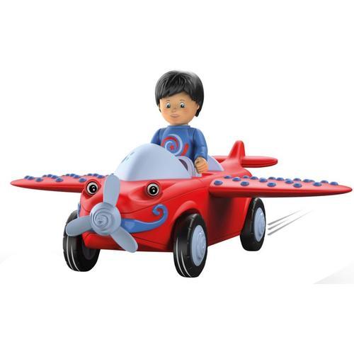 Toddys Leo Loopy - Spielzeugflugzeug blau/rot