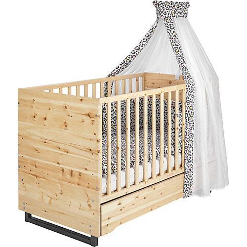 Kombi-Kinderbett Zirbenholz, 70x140 cm