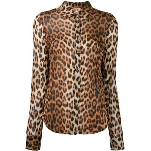 N°21 Hemd mit Leoparden-Print