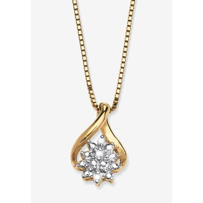Plus Size Women's Gold & Sterling Silver Diamond Pendant by PalmBeach Jewelry in Gold