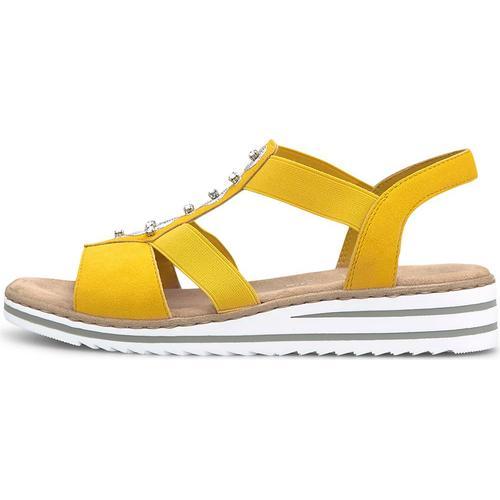 Rieker, Sommer-Sandale in gelb, Sandalen für Damen Gr. 39