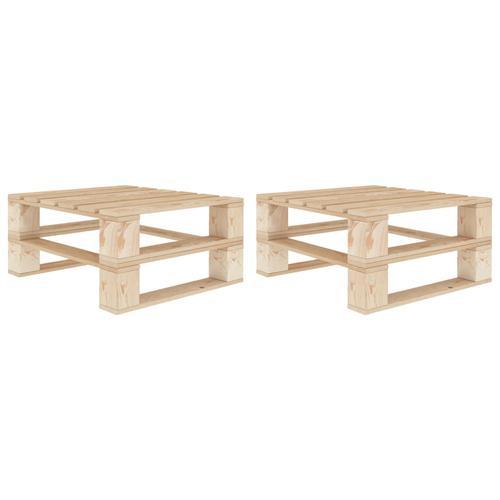 vidaXL Garten-Palettentische 2 Stk. Holz