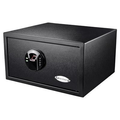 Barska AX12840 0.99 cu ft Biometric Safe w/ Fingerprint & Keypad Lock – Steel, Black