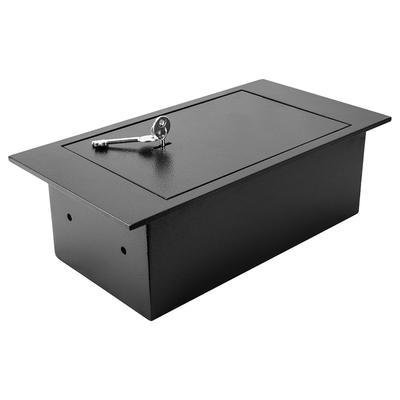 Barska AX12656 0.22 cu ft Floor Safe w/ Key Lock – Steel, Black