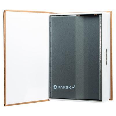 Barska CB11990 Dictionary Book Lock Box w/ Combination Lock – 7 1/5″W x 4 5/8″H x 2″D, Steel