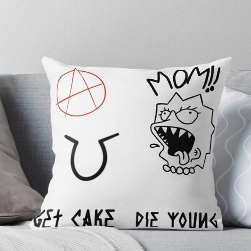 Lil Peep Sticker Pack 4 , Tattoos Throw Pillow