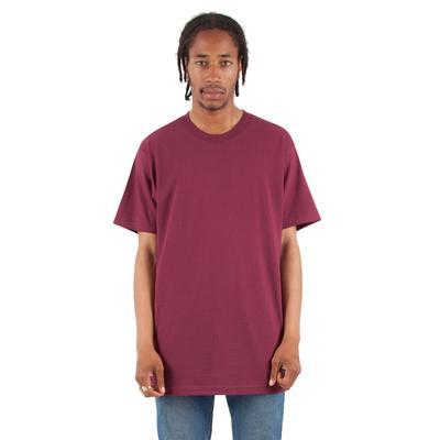 Shaka Wear SHASS Adult 6 oz. Active Short-Sleeve Crewneck T-Shirt in Burgundy size Small   Cotton