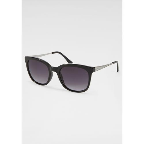 J.Jayz Sonnenbrille, mit Glitter-Details schwarz Damen Eckige Sonnenbrille Sonnenbrillen Accessoires