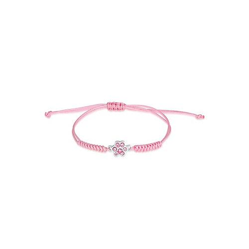 Elli Armband Kinder Pfote Nylon Kristalle 925 Silber Armbänder rosa Mädchen Kinder