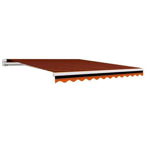 vidaXL Markisenbespannung Canvas Orange & Braun 300 x 250 cm