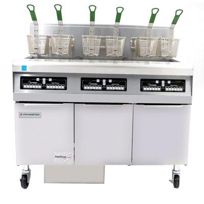 Frymaster FPPH355 Gas Fryer - (3) 50 lb Vats, Floor Model, Liquid Propane