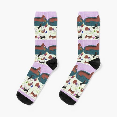 Dackel stricken Socken