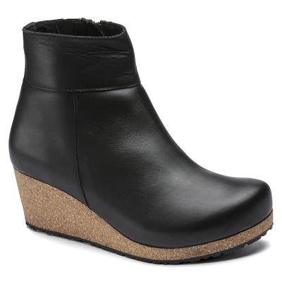BIRKENSTOCK Ebba Natural Leather Black With A Heel