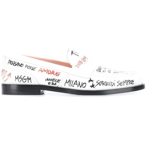 MSGM Loafer mit Schriftzug