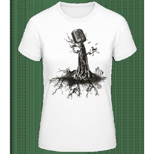 Mikrofon Baum - Frauen Basic T-Shirt