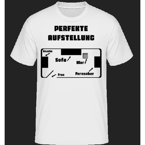 Perfekte Fußball Aufstellung - Shirtinator Männer T-Shirt