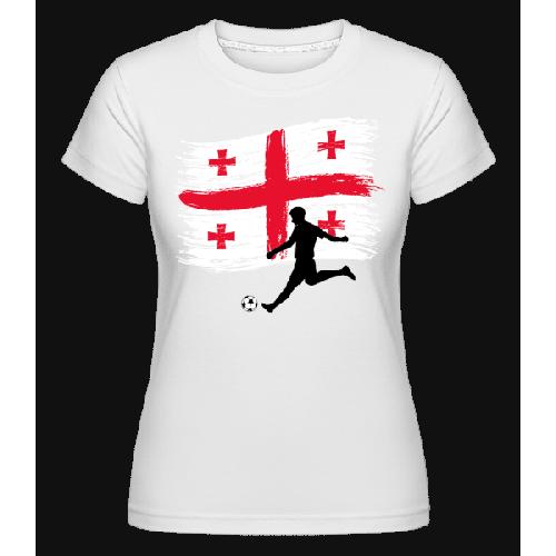 Georgien Fahne Fußballer - Shirtinator Frauen T-Shirt