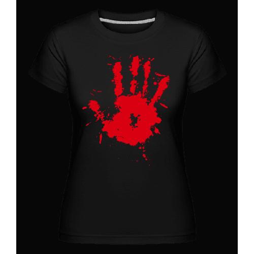 Blutiger Handabdruck - Shirtinator Frauen T-Shirt