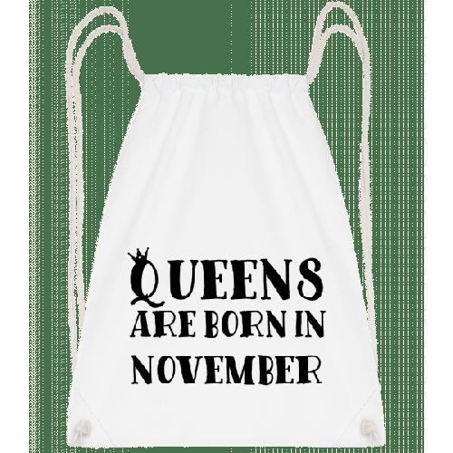 Queens Are Born In November - Turnbeutel