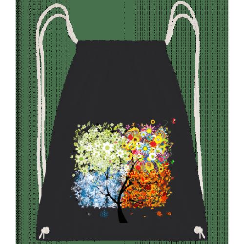 Vier Jahreszeiten Baum - Turnbeutel