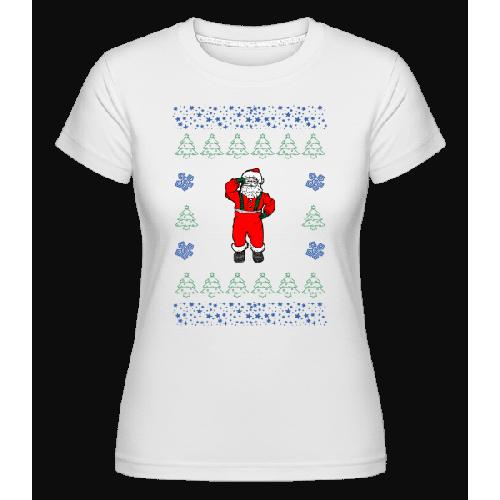 Weihnachtsmann Strickmuster - Shirtinator Frauen T-Shirt
