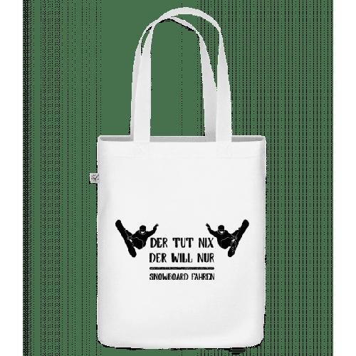 Der Tut Nix Nur Snowboard - Bio Tasche