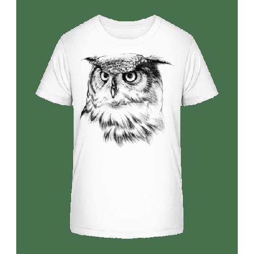 Eule Realistisch - Kinder Premium Bio T-Shirt
