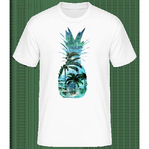 Ananas Palmen - Männer Basic T-Shirt