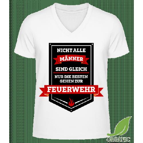 Die Besten Sind Feuerwehrmänner - Männer Bio V-Neck T-Shirt