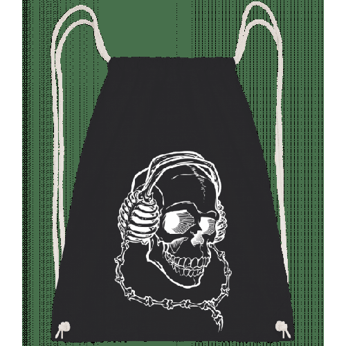 Totenkopf Mit Kopfhörern - Turnbeutel