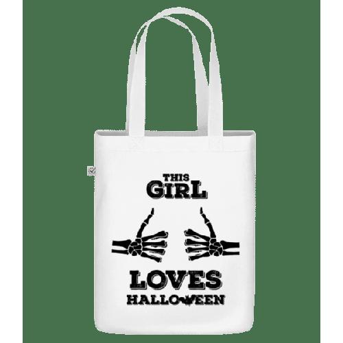 This Girl Loves Halloween - Bio Tasche