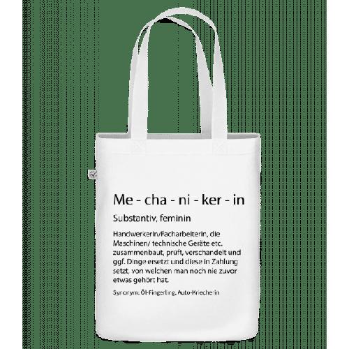 Mechanikerin Quatsch Duden - Bio Tasche