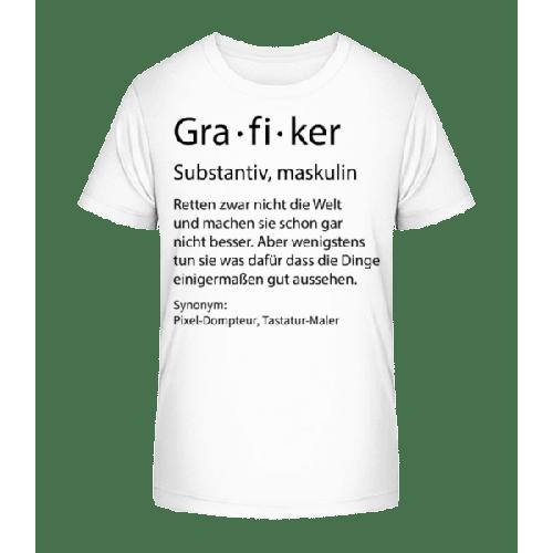 Grafiker Quatsch Duden - Kinder Premium Bio T-Shirt
