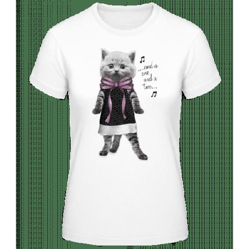 Tanzende Katze - Frauen Basic T-Shirt