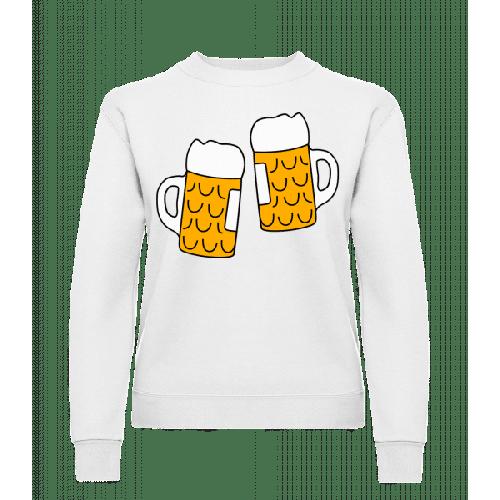 Zwei Bier - Frauen Pullover