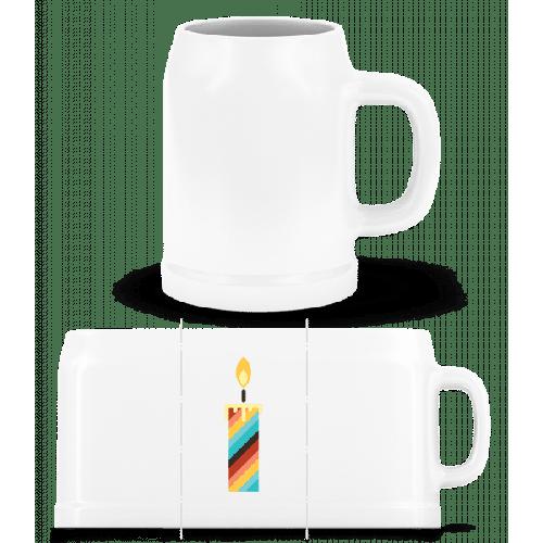 Geburtstagskerze - Bierkrug