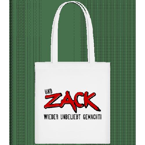 Und Zack Wieder Unbeliebt Gemach - Stoffbeutel