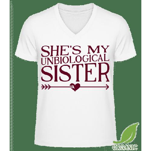 Unbiological Sister - Männer Bio V-Neck T-Shirt
