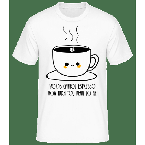 Words Connot Espresso - Männer Basic T-Shirt