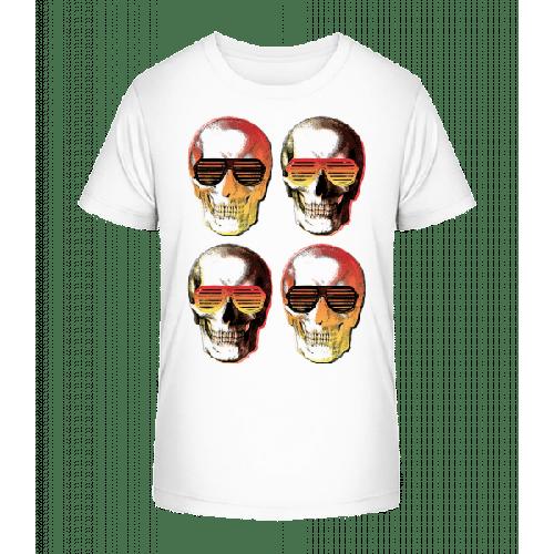 Stylische Totenköpfe - Kinder Premium Bio T-Shirt