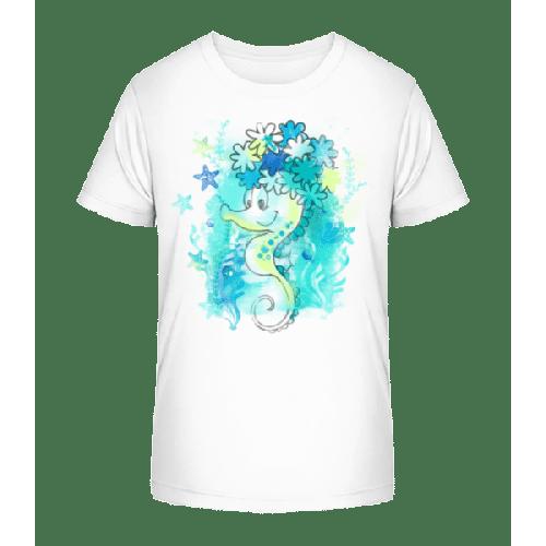 Aquarell Seepferdchen - Kinder Premium Bio T-Shirt