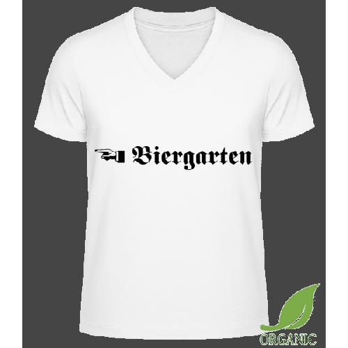 Biergarten - Männer Bio V-Neck T-Shirt