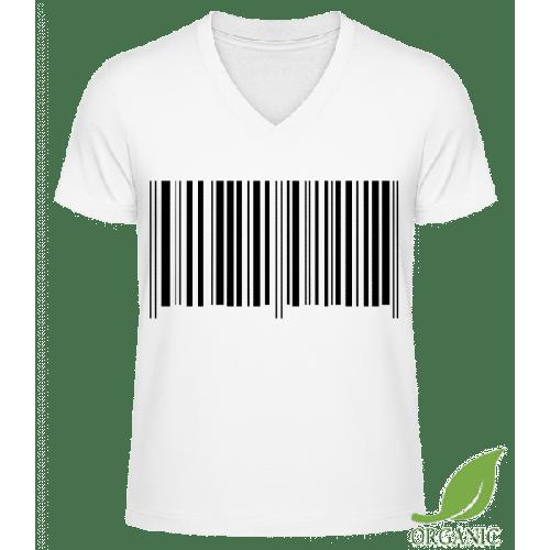 Barcode - Männer Bio V-Neck T-Shirt