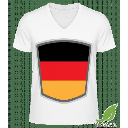 Deutschland Fahne Wimpel - Männer Bio V-Neck T-Shirt