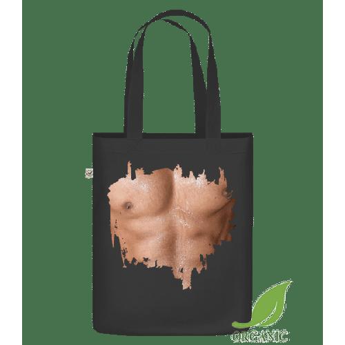 Muskulöser Oberkörper Mann - Bio Tasche