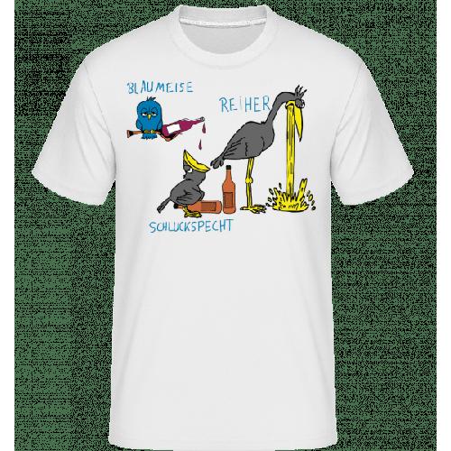 Blaumeise Reiher Schluckspecht - Shirtinator Männer T-Shirt