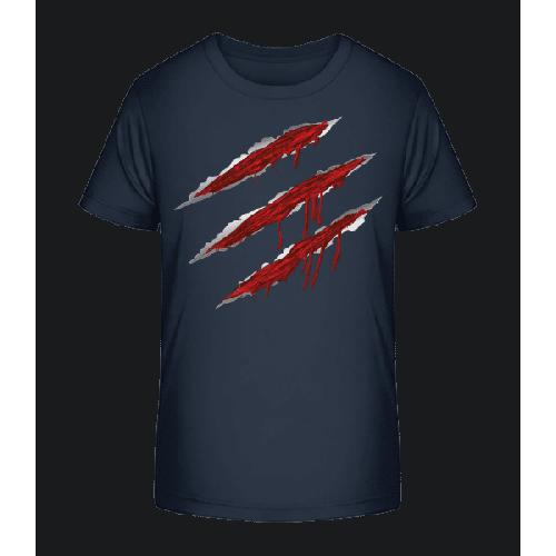 Blutige Kratzer - Kinder Premium Bio T-Shirt